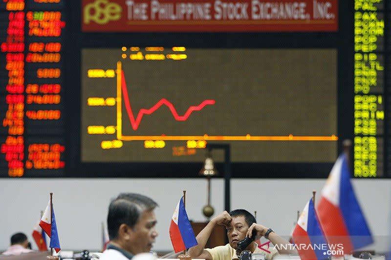 Saham Filipina terus merosot dengan indeks PSE tergerus 0,58 persen