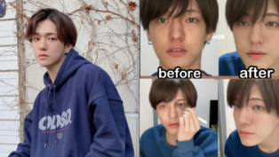 原來男生化妝可以這麼萌!「無性別男孩」5分鐘上妝技巧,網友:這男人化妝後也太好看了
