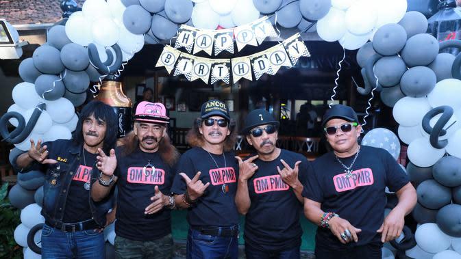 Om PMR gaet Indro Warkop launching single terbaru (Adrian Putra/bintang.com)