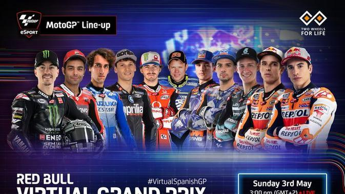 MotoGP Virtual Race Jilid III: Vinales Juara, Alex Marquez Kalahkan Bagnaia