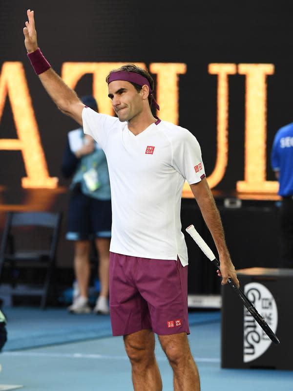 Petenis Swiss, Roger Federer. (Manan VATSYAYANA/AFP)