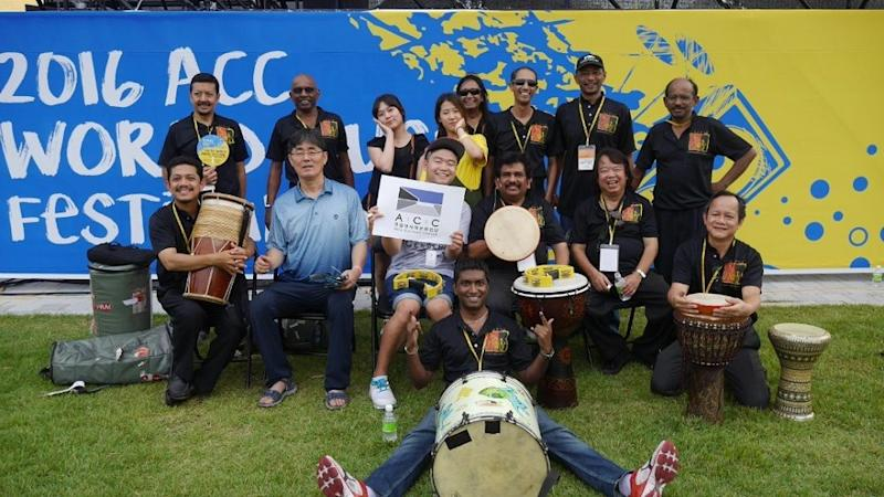 Sanjiv was an active member at APU since he first joined in 2001. — Picture courtesy of Aseana Percussion Unit.