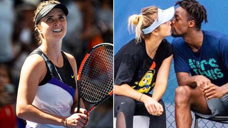 Elina Svitolina won on Tuesday, now it's Gael Monfils' turn. Image: Getty/Twitter