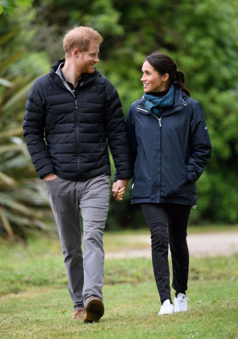 The Duchess wearing her adidas x Stella McCartney Stan Smiths on a trip to Abel Tasman National Park in New Zealand (Getty Images)