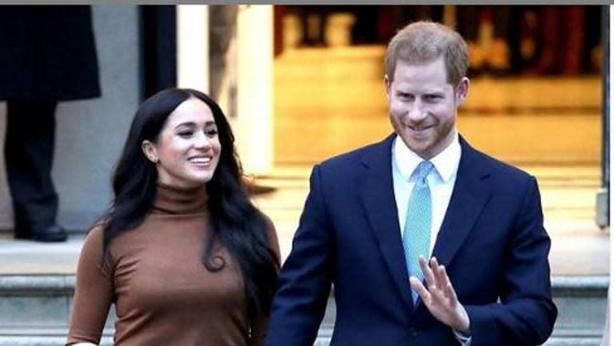 Meghan Markle bersama Pangeran Harry. (dok.Instagram @hrhofsussex/https://www.instagram.com/p/B7B7haYHYJh/Henry)