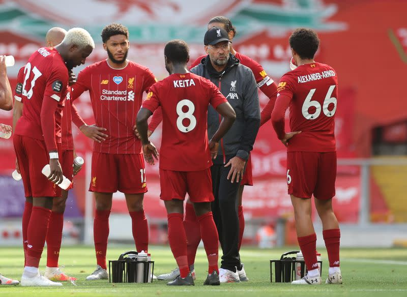 Liverpool not focused on records, says Klopp