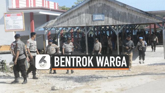 VIDEO: Bentrok Warga di Buton Tengah, Rumah Dibakar Massa