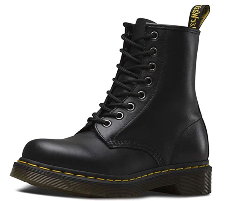 Dr. Martens Women's 1460 Boots in Black Nappa Leather (Photo via Amazon)
