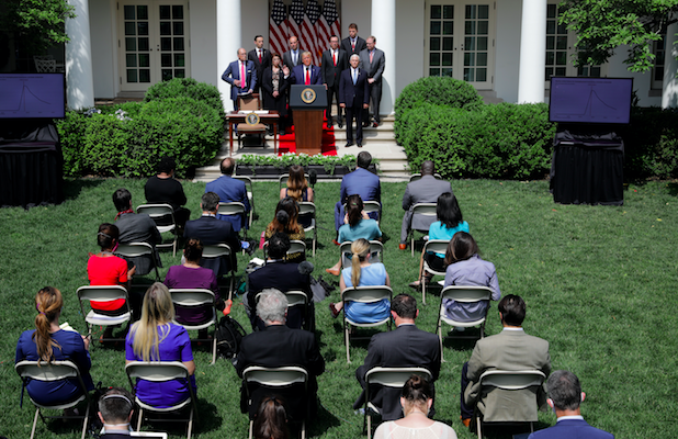 White House Says Close Press Seating 'Looks Better' After It's Criticized by Reporters Amid Pandemic