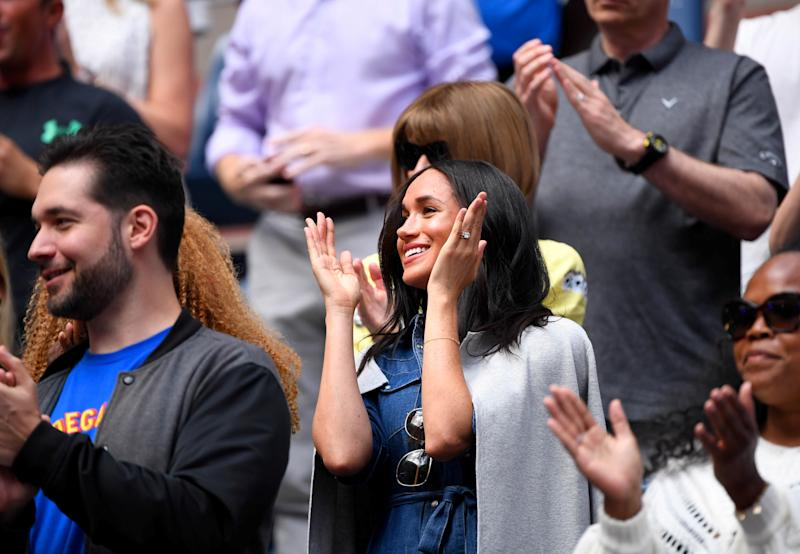 Sept 7, 2019; Flushing, NY, USA; Meghan Markle in attendance before the women's singles final match between Serena Williams of the United States and Bianca Andreescu of Canada on day thirteen of the 2019 U.S. Open tennis tournament at USTA Billie Jean King National Tennis Center. Mandatory Credit: Robert Deutsch-USA TODAY Sports