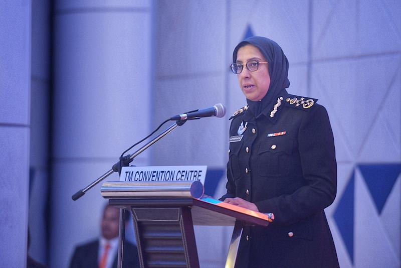 Malaysian Anti-Corruption Commission, chief commissioner Latheefa Koya speaks at the launch TM Berhad's Group Integrity and Governance at the TM Convention Centre in Kuala Lumpur September 6, 2019. — Picture by Shafwan Zaidon