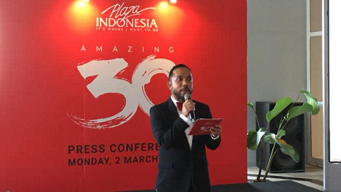 Zamri Mamat, General Manager Marketing Plaza Indonesia di konferensi pers Amazing 30. (Liputan6.com/Putu Elmira)