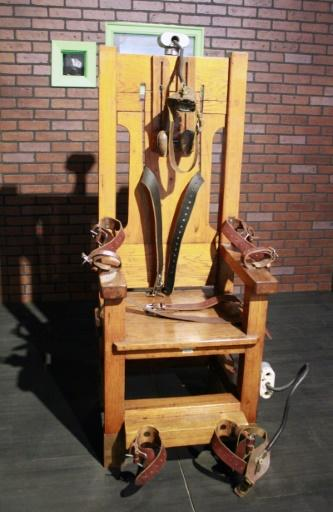 """More than two-thirds of the world's countrys have abolished or suspended judicial killings. The United States is the most developed country where it is still used. Shown here in a Texas museum is """"Old Sparky"""", the electric chair discontinued in 1965"""
