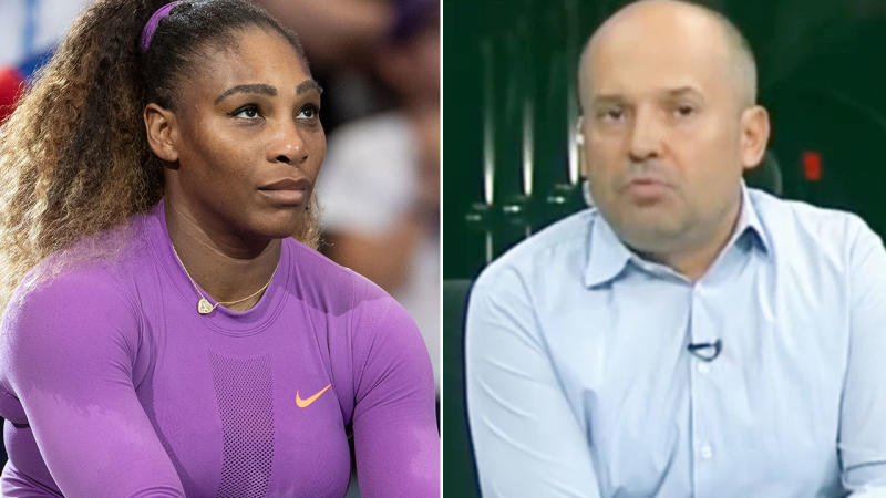 Serena Williams and Radu Banciu, pictured here during the US Open final.