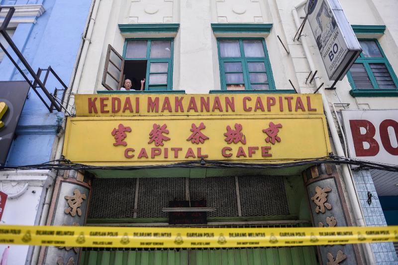Lim, the owner of Capital Cafe, was forced to closed restaurant operations following the Covid 19 outbreak during movement control order (MCO) in Jalan Tunku Abdul Rahman, Kuala Lumpur April 16, 2020. — Picture by Miera Zulyana
