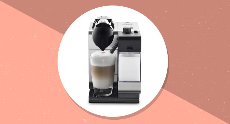 Nespresso by De'Longhi Lattissima Plus Espresso and Cappuccino Machine. (Photo: Amazon/Yahoo Lifestyle)