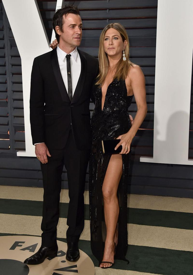 Jennifer Aniston and Justin Theroux have split after two years of marriage - the pair pictured here in 2017. Source: Getty