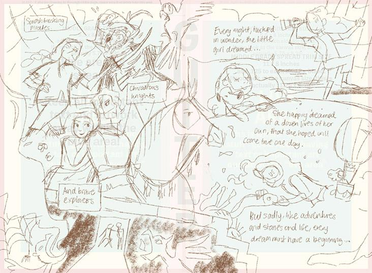 Behind the scenes: some of Yee's sketches