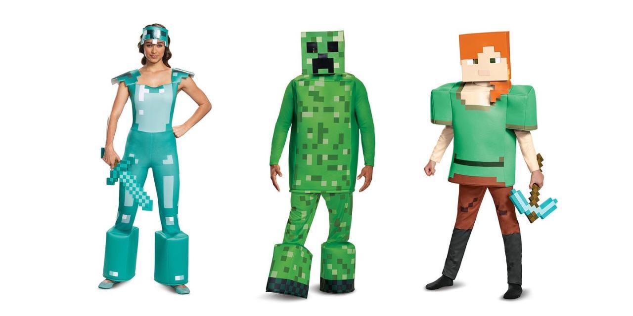 "<p>from $12.99 each</p><p><a class=""body-btn-link"" href=""https://www.amazon.com/s?k=minecraft+costumes&tag=syn-yahoo-20&ascsubtag=%5Bartid%7C2089.g.1733%5Bsrc%7Cyahoo-us"" target=""_blank"">SHOP AMAZON</a> <a class=""body-btn-link"" href=""https://go.redirectingat.com?id=74968X1596630&url=https%3A%2F%2Fwww.halloweencostumes.com%2Fminecraft-costumes.html%3Fq%3DMinecraft&sref=https%3A%2F%2Fwww.bestproducts.com%2Flifestyle%2Fnews%2Fg1733%2Fgroup-halloween-costumes%2F"" target=""_blank""><strong>SHOP HALLOWEENCOSTUMES.COM</strong></a></p>"