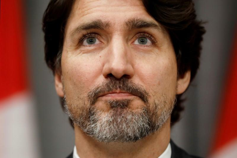FILE PHOTO: Canada's Prime Minister Justin Trudeau pauses during a news conference on Parliament Hill in Ottawa