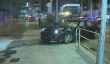 旺角三傷車禍 其中私家車司機涉酒駕