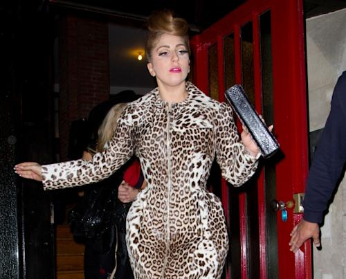 Lady Gaga is seen leaving the Alaia store in Paris on September 21, 2012 -- Getty Premium