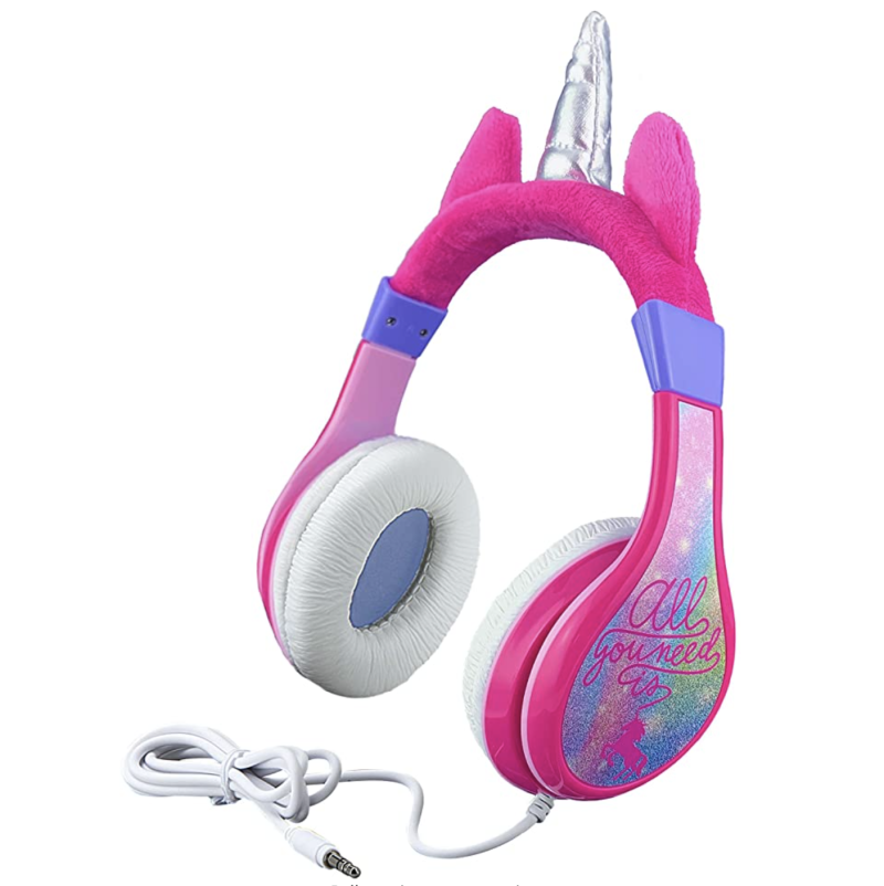 Unicorn kids headphones. (PHOTO: Amazon)