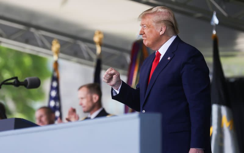 Trump says without proof that FDA 'deep state' slowing COVID trials
