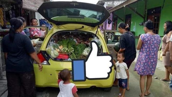 Hanya di Papua, Honda Brio Dipakai untuk Jualan Sayur