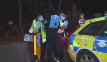 西九龍公路私家車衝路障 司機被捕