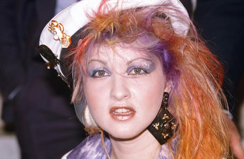 cyndi lauper in a captain's hat
