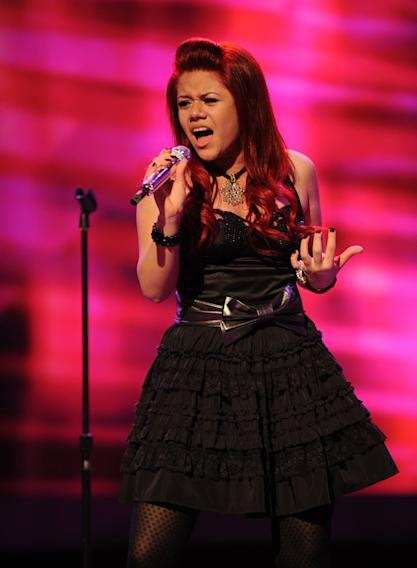 "Allison Iraheta performs ""Alone"" by Heart on ""American Idol."""