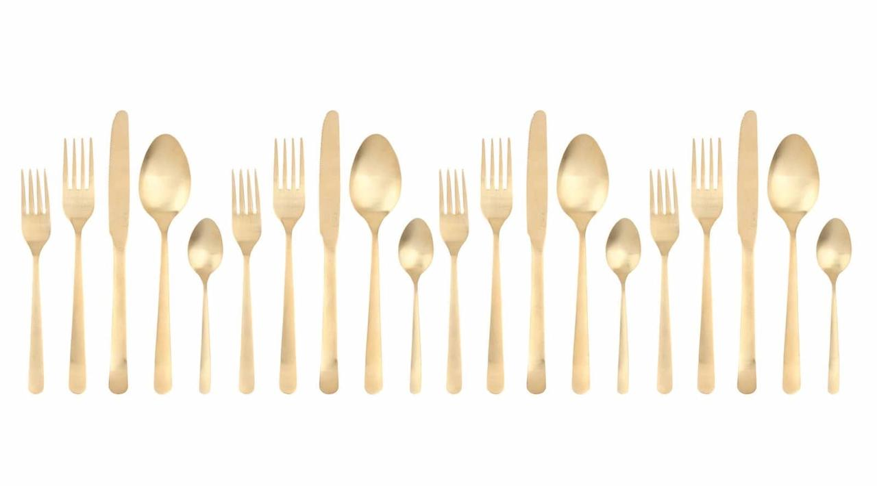 "<p>Look, it's time to invest in a full set of matching silverware. This pretty gold <a rel=""nofollow"" href=""https://www.popsugar.com/buy/Canvas%20Home%20Oslo%2020-Piece%20Flatware%20Set-388427?p_name=Canvas%20Home%20Oslo%2020-Piece%20Flatware%20Set&retailer=shop.nordstrom.com&price=392&evar1=yum%3Aus&evar9=37341317&evar98=https%3A%2F%2Fwww.popsugar.com%2Ffood%2Fphoto-gallery%2F37341317%2Fimage%2F45501100%2FFlatware-Set&list1=gifts%2Choliday%2Cgift%20guide%2Cfood%20shopping%2Ckitchen%20equipment%2Choliday%20living%2Choliday%20food%2Cgifts%20for%20women%2Cgifts%20for%20men&prop13=mobile&pdata=1"" rel=""nofollow"">Canvas Home Oslo 20-Piece Flatware Set</a> ($392) screams luxury, and you'll be so happy to have it.</p>"