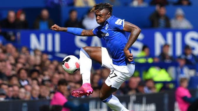 5. Moise Kean - Pemain Everton ini tengah dikaitkan dengan Juventus pada musim panas ini. Bianconeri dikabarkan ingin memulangkan Moise Kean ke Turin pada musim panas ini. (AFP/Paul Ellis)