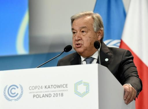 "UN chief Antonio Guterres warned nations that their plan to chart a route away from runaway global warming was ""way off course"""