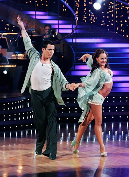 "<a href=""/baselineperson/4144267"">Steve-O</a> and Lacey Schwimmer perform the Rumba to ""Fall for You"" by Secondhand Serenade on ""Dancing with the Stars."""