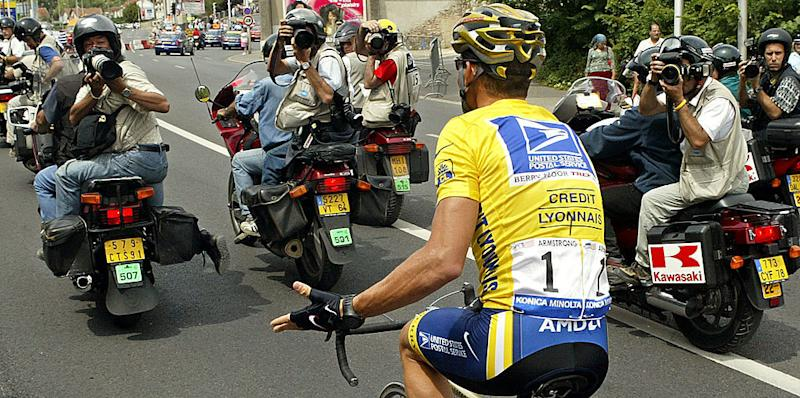 Armstrong took issue with many members of cycling's press corps