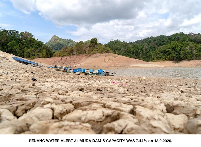 PBAPP CEO Datuk Jaseni Maidinsa said Muda Dam's capacity is at a critical level of only 7.44 per cent as of yesterday and it can no longer support Sungai Muda during the current dry season. — Picture courtesy of Penang Water Supply Corporation