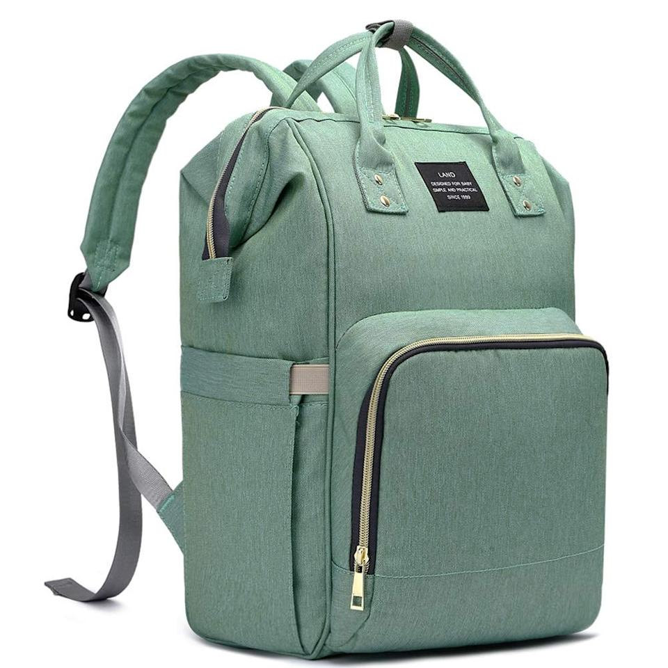 """<p>""""I underestimated the value of pockets when I first started <a href=""""https://www.popsugar.com/family/Bestselling-Diaper-Bag-Amazon-46008176"""" class=""""ga-track"""" data-ga-category=""""internal click"""" data-ga-label=""""https://www.popsugar.com/family/Bestselling-Diaper-Bag-Amazon-46008176"""" data-ga-action=""""body text link"""">searching for the perfect diaper bag</a>. I was focused more on style and wanted something that didn't scream rash cream or poopy diaper. I found a number of backpacks I liked, fortunately, but without insulated pockets to keep breast milk and formula cold, they left a lot to be desired. The longer I carried on with my limiting bag, the more I learned about the types of amenities I truly needed. And it's as if the <product href=""""https://www.amazon.com/HaloVa-Multi-Function-Waterproof-Backpack-Capacity/dp/B07WSTZ55Y/"""" target=""""_blank"""" class=""""ga-track"""" data-ga-category=""""internal click"""" data-ga-label=""""https://www.amazon.com/HaloVa-Multi-Function-Waterproof-Backpack-Capacity/dp/B07WSTZ55Y/"""" data-ga-action=""""body text link"""">Halova Diaper Bag</product> ($29) was listening to me the entire time.</p> <p>Not only does this bag have over 9,200 reviews on Amazon, but it's as if the brand was listening to the needs of other parents as well. Let's start with what it can hold: a LOT. There is a large main compartment that fits a surprising amount of stuff (just watch the videos of parents piling things inside), separate storage pockets, including insulated pockets, and even a wet-clothes pocket so you can keep washcloths or dirty clothing separate. There's even a clutch side pocket that can be used to dispense napkins."""" - Rebecca Brown, senior editor</p>"""