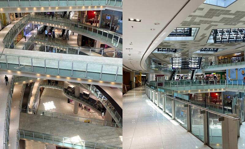 Empty floors at Nu Sentral today. Photos: KhabirM/Twitter