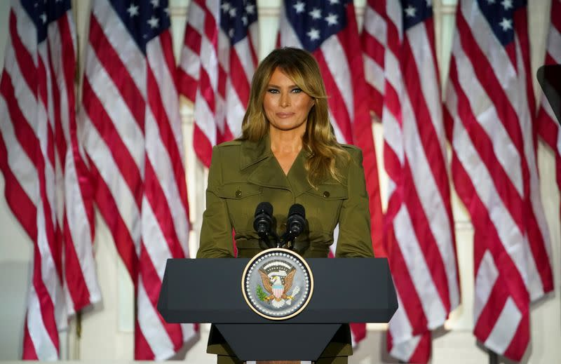 Melania Trump offers sympathy on coronavirus, racial suffering in convention speech