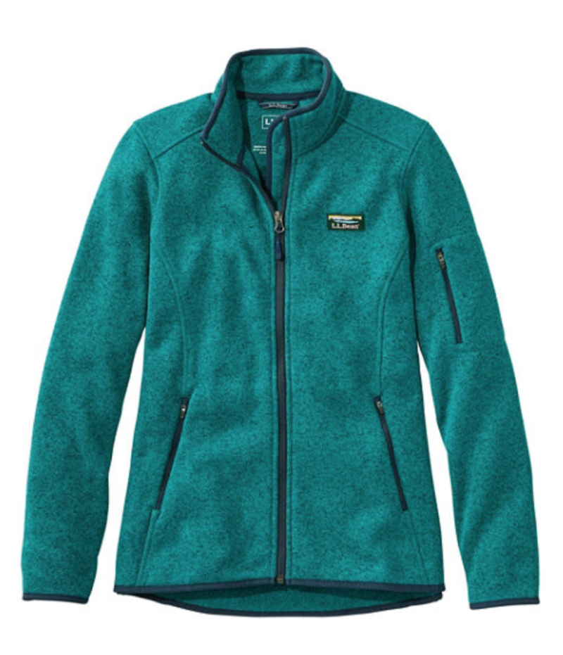 Women's L.L.Bean Sweater Fleece Full-Zip Jacket. Image via L.L. Bean.