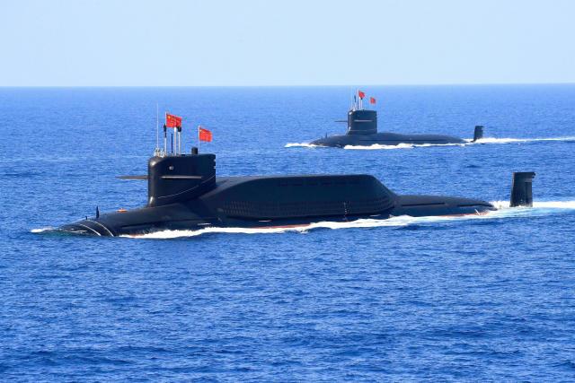 Submarinos chinos con capacidad de lanzamiento de misiles. (Reuters)