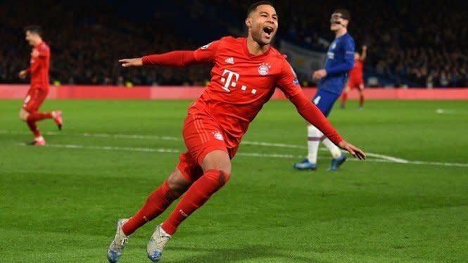 Sepasang Gol Serge Gnabry Bawa Bayern Munich Ungguli Lyon di Babak I