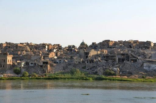 A year after Islamic State group jihadists were driven out of Mosul, Iraq's second city remains in ruins with rubble piling up high