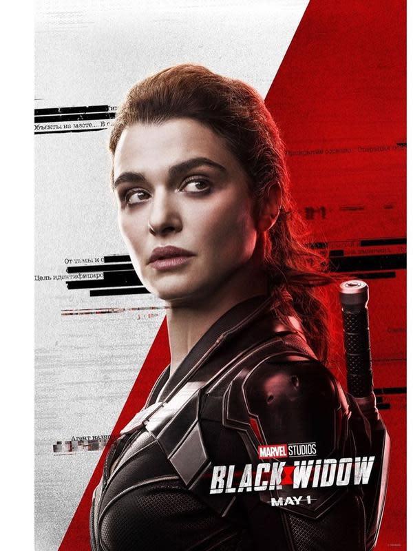 Rachel Weisz sebagai Melina Vostokoff di Black Widow. (Foto: Instagram @black.widow)