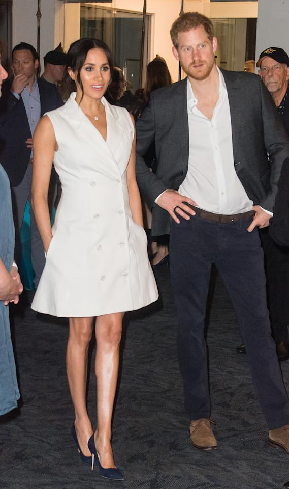 <p>The Duke and Duchess of Sussex spent Monday evening at Courtenay Creative to get a taste of Wellington's art scene. Photo: Getty </p>