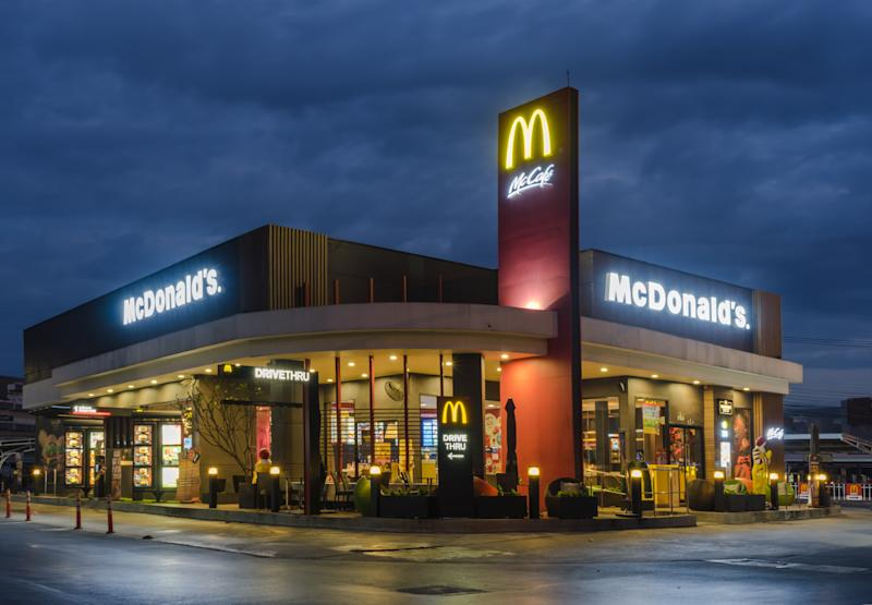 Bangkok, Thailand - December 28, 2016: McDonald's exterior. The world's largest chain of hamburger fast food restaurants.