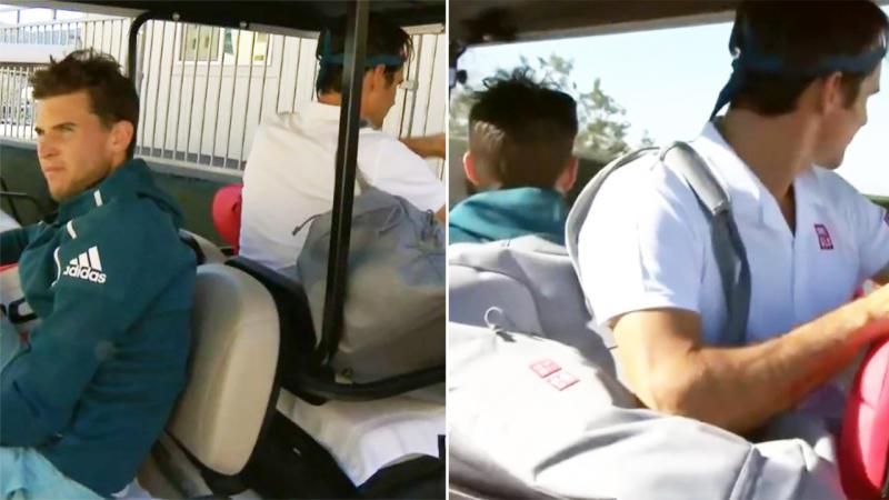 Image result for federer in golf cart