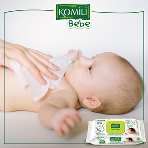 Komili Bebe 棉質濕紙巾80片- 初生嬰兒